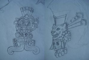 tlaloc and some mayan guy by ma8c0