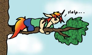 Stuck In A Tree by KaurauTheFox