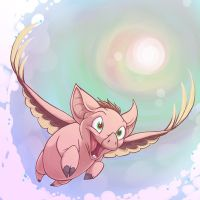 He can fly by Toonfused