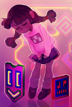 Neon Friends by tinypaint