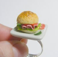 ham salad in a roll ring from NeatEats by rhonda4066