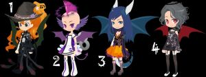 Demon Girls Trade to Adopt Set 26 CLOSED by AdoptableSoulxHeart