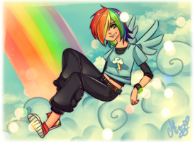 Rainbow Dash by M-I-Z-Z