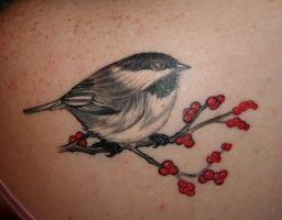 Chickadee Tat by yorkchop