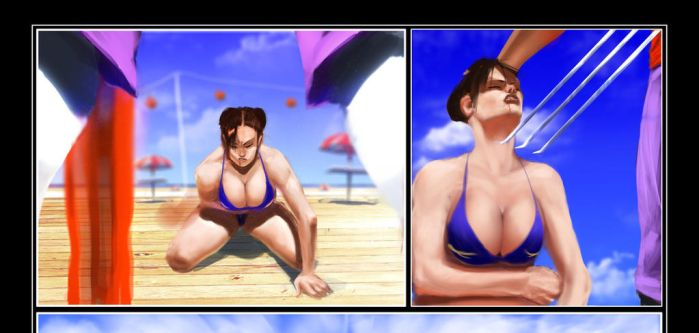 Chun Li's Gauntlet Pg4 raw preview by Tree-ink