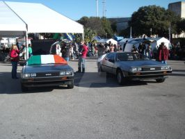 A Pair of DeLoreans by vash68