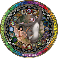 Masterpiece The Jungle Book Stained Glass by Maleficent84