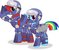 Crystal war Toonkritic and Dash by Vector-Brony