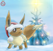 CE: christmas Eevee by shadowhatesomochao