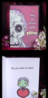 Geek Greetings- Zombie Romance Card by Namingway