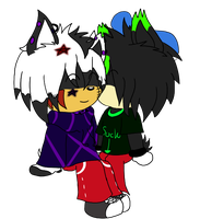 Lucifer and Gloom Chibi's -PC- by Puple-Chaos