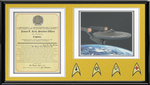 Capt. Kirk Commissioning Letter Shadow Box by viperaviator