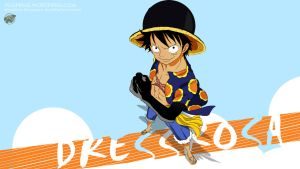 One Piece 1 Dressrosa (Luffy) - 3840x2160 by PugPrime