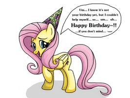 Happy Birthday from Fluttershy by Rambopvp