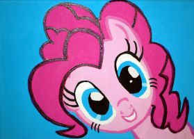 pinkie pie canvas painting by LightningChaser