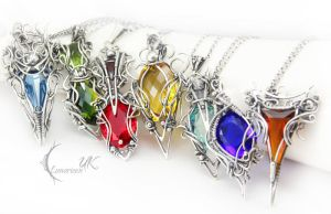 collection of necklaces IV Lunarieen UK by LUNARIEEN
