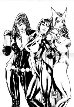 Three girls from Marvel by PauloSiqueira