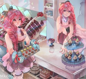 :Co:Tips Treats and Tails bakery +|SPEEDPAINT| by Naussi