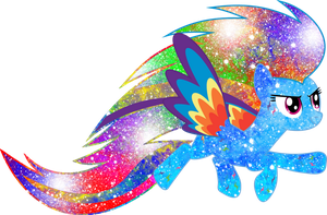 Galaxy Rainbow Power Rainbow Dash by DigiRadiance