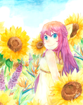 Sunflowers and Smiles by Fishenod