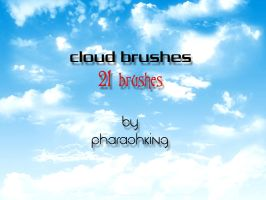 clouds photoshop brushes by pharaohking