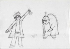 Dr Moments and his Minion by momentscomic