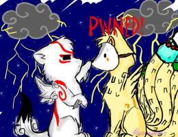 Okami-Ammy and Kyuubi PWNED by Karramon