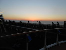 The people and the Sun Set by OceanRailroader