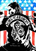 Sons of Anarchy by LadyZombiedraws