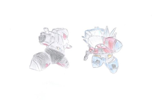 Optimits and Megatits, The Fighters by cannonfodder4000