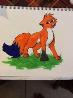 Drawing on paper 19 by Obsidianthewolf