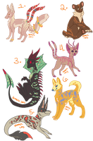 Creature Adopts [CLOSED] by Kama-ItaeteXIII