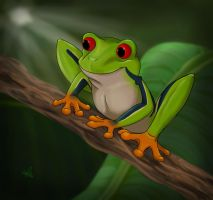 Tree Frog-Frosteefox Commish by Spiritwollf