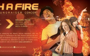 Catch A Fire Church Concert Flyer Template by loswl