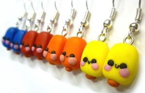 Kawaii ice lolly earrings by TenereDelizie