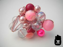 Bubble Gum Pop Cluster Ring by TheFuzzyPineapple