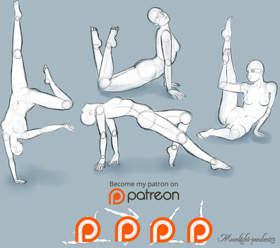Pose Studies, Pack 2 by Moonlight-pendent13