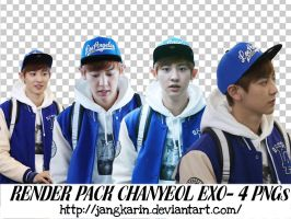 [Render Pack] #5 Chanyeol EXO - 4PNGs by jangkarin