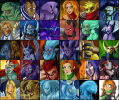 Dota 2: icon set v 1.0 by RichiHart