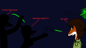 GLOWSTICK FIGHT!!!! by Alden-the-Fox