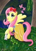 Disney Princess Fluttershy (Snow White) by KarToon12