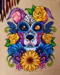 Sugar Skull Puppy - Commission by dannii-jo