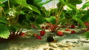 Snail eats my strawberries by dragan45