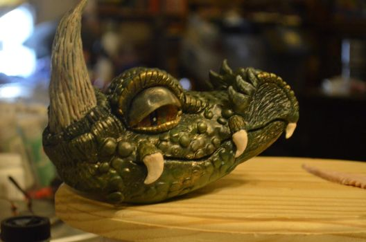 Dragon Head Painting Stage 1 by TalesandFire