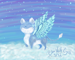 Flying cat by Blue-Wolf-Eyes