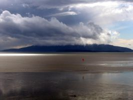 Squall coming over an Island by knavery
