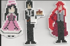 Black Butler Figures. by Sew-Madd