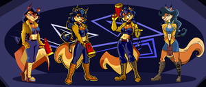 The Evolution of Carmelita Fox by Vixcoon