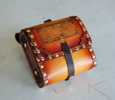 Leather Cog Pouch by BruteForceStudios
