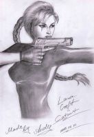 Catsuit-Lara drawing by RealTRgamer